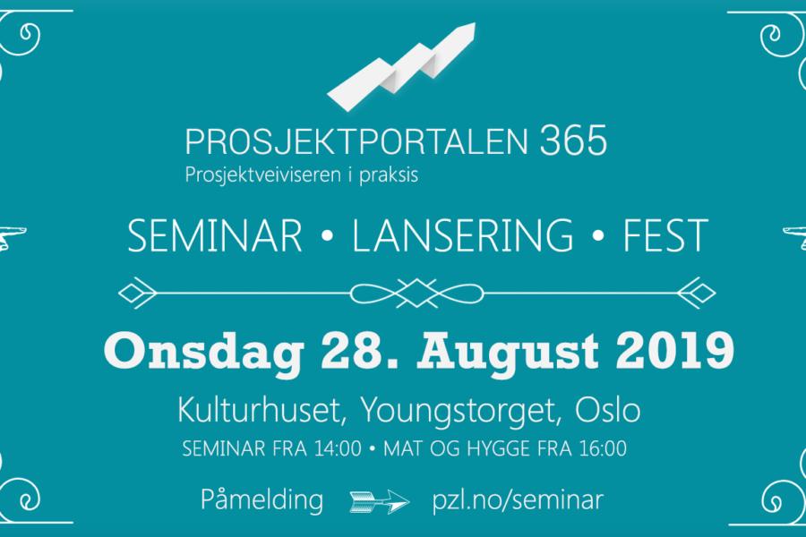 Prosjektportalen 365-seminar 28. august
