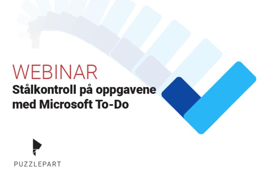 Gratis webinar: Få stålkontroll på oppgavene med Microsoft To-Do